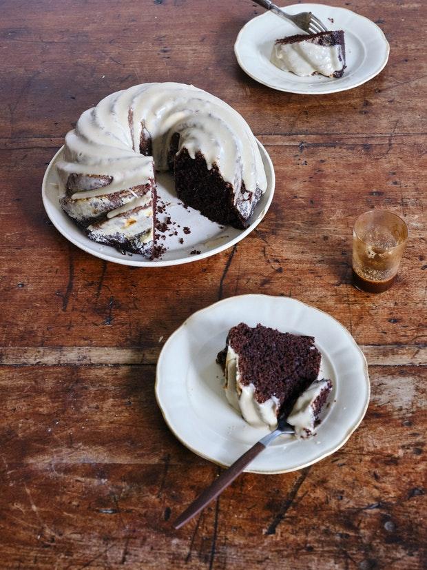 Chocolate Fudge & Tahini Cake