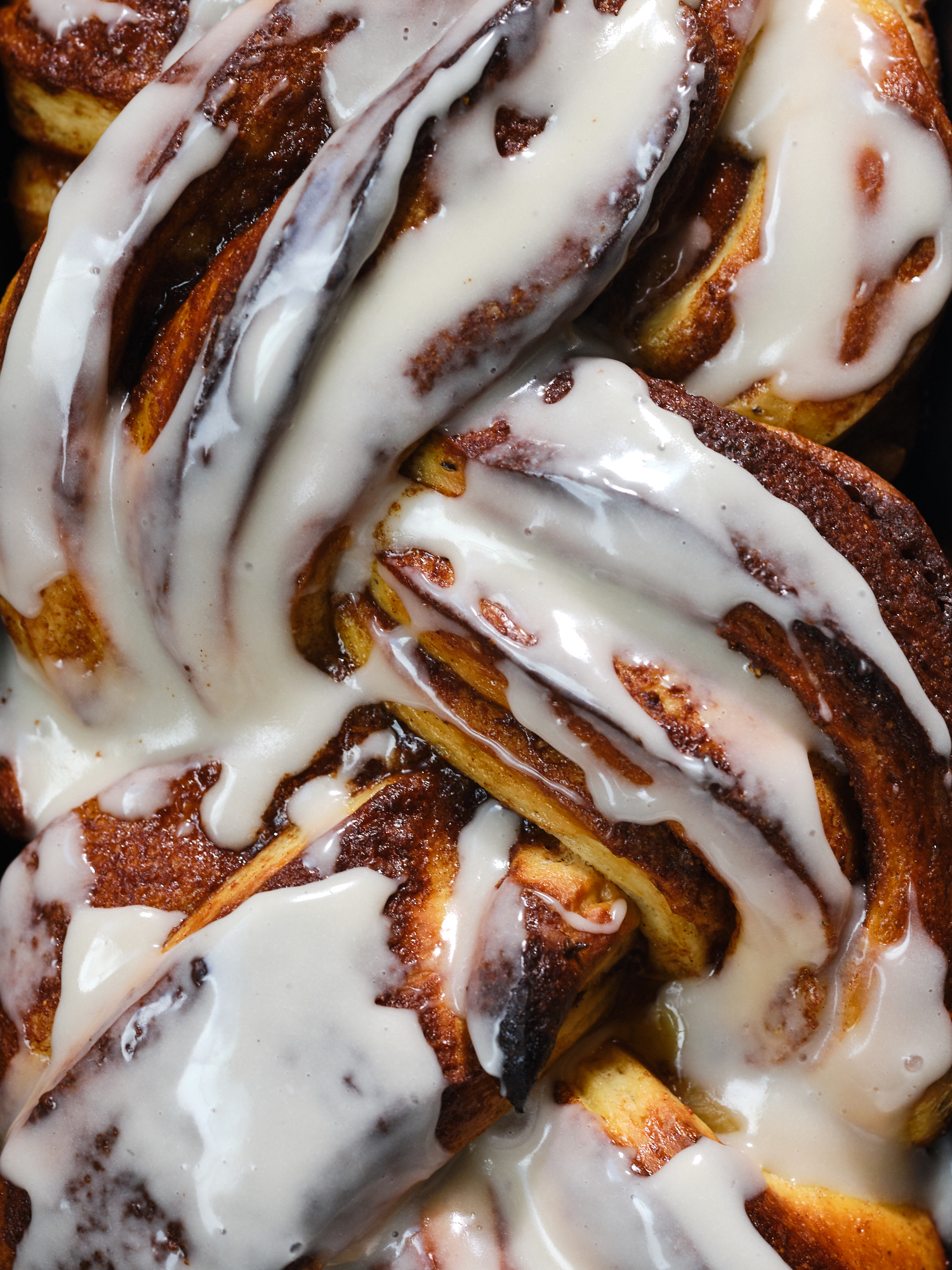 Cinnamon Roll Swirl Loaf - close-up