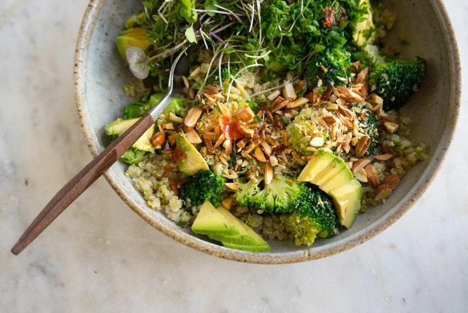 Vegan Double Broccoli Buddha Bowl